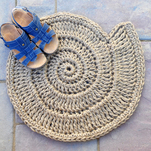 Button Shell Door mat - Nautical floor decor - Handmade To Order