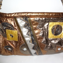 XL Bronze and silver Clutch!!