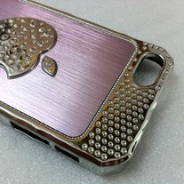 New Bling Sparkle Crystal Logo Pink Elegant iPhone 5 Case Design #2