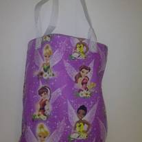 Purple Tinker Bell and Friends Cotton Tote Bag