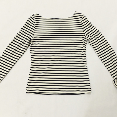 Tonatiuh striped navy boatneck sweater
