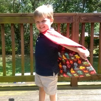 Red Monsters Super Hero Cape