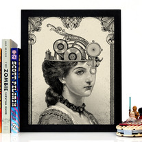 Image of The Steampunk Queen, Giclee Art Print, 8 x 10 inches