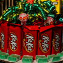 Candy Cake with Kit Kats