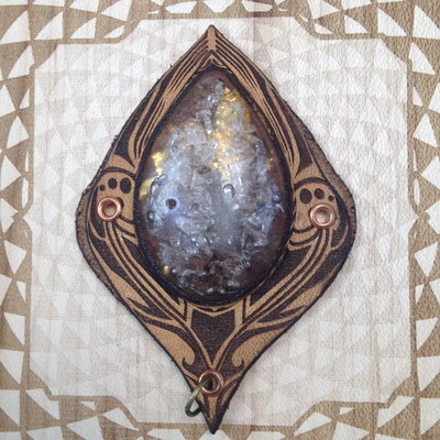 "Sacred geometry orgonite pendant ""lotus drop"""