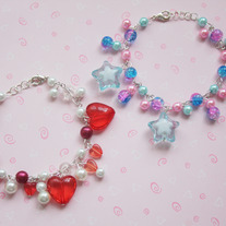 Star and hearts bracelets