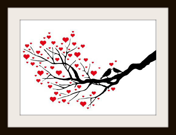Wedding Kissing Birds Clip Art