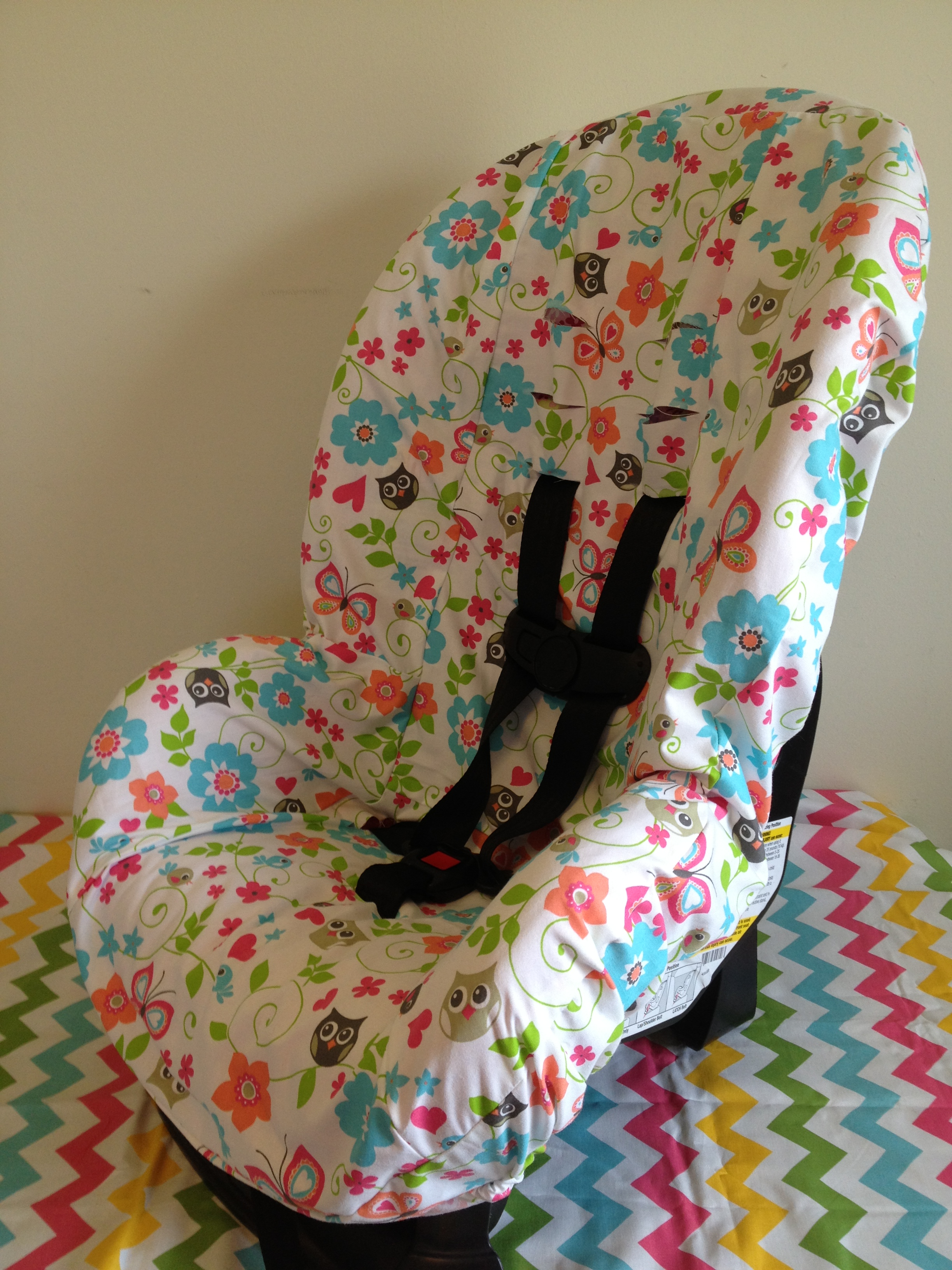 lizsstitches gray owls toddler carseat cover online store powered by storenvy. Black Bedroom Furniture Sets. Home Design Ideas