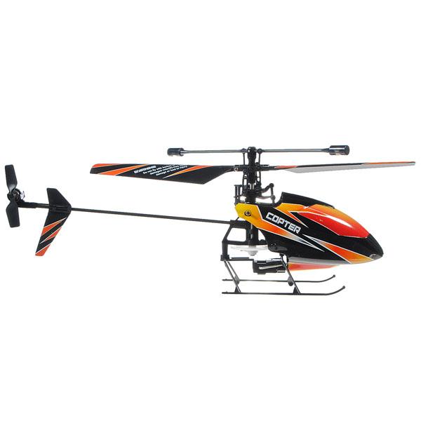 Радиоуправляемые вертолёты соосной схемы обычно меньше по размеру и лучше подходят для работы внутри помещений.