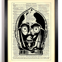 Image of Star Wars C3PO, Vintage Dictionary Print, 8 x 10