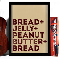 Image of Peanut Butter & Jelly Sandwich Typography Art Print, 8 x 10 inches