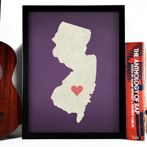 Image of New Jersey State LOVE, Giclee Art Print, 8 x 10 inches