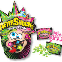 AfterShocks Popping Candy Bag 20 Pouches Green Apple and Strawberry Flavor from The Foreign Candy Company