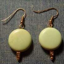 Pastel Green Disc Earrings