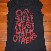 Can't Sleep Must Warn Others Ladies Tee