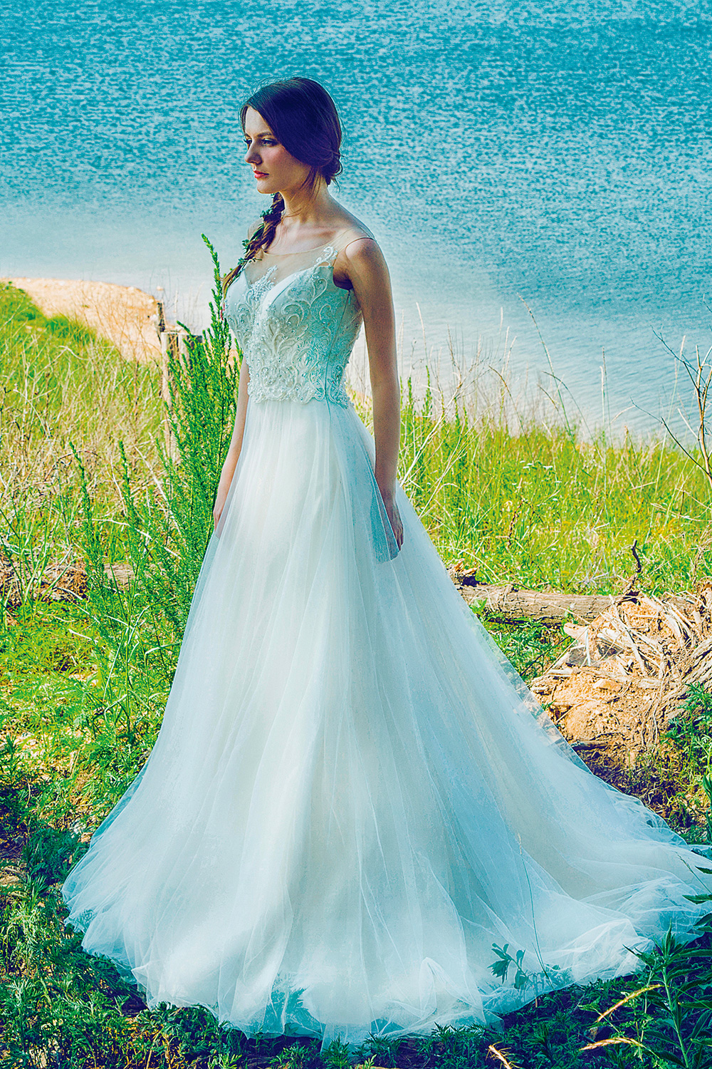 Plus SIze Soft Tulle Gown with Elaborate Beaded Lace Bodice Wedding ...