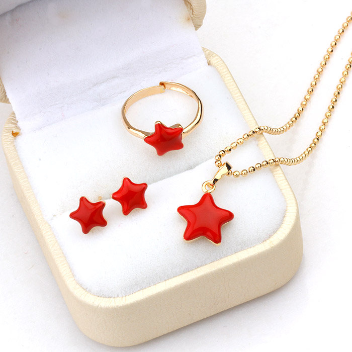 Lovely Kids Gold Jewelry Set Gold Jewelry Gold Jewelry Online Shop