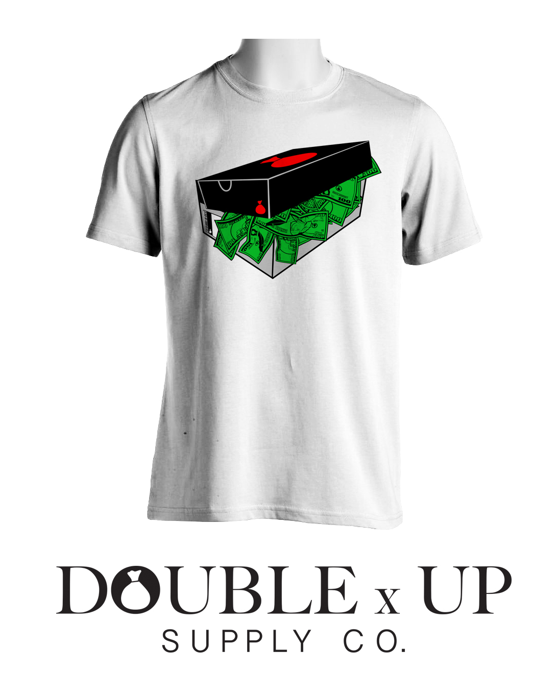 Shoe box money t shirt double up supply company online for How to make a shirt with money