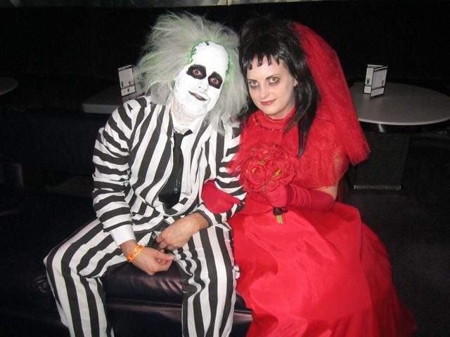 Child Size Beetlejuice Red Wedding Gown Costume Lydia