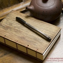 Letterpressed Paulownia Wooden Handcrafted Journal