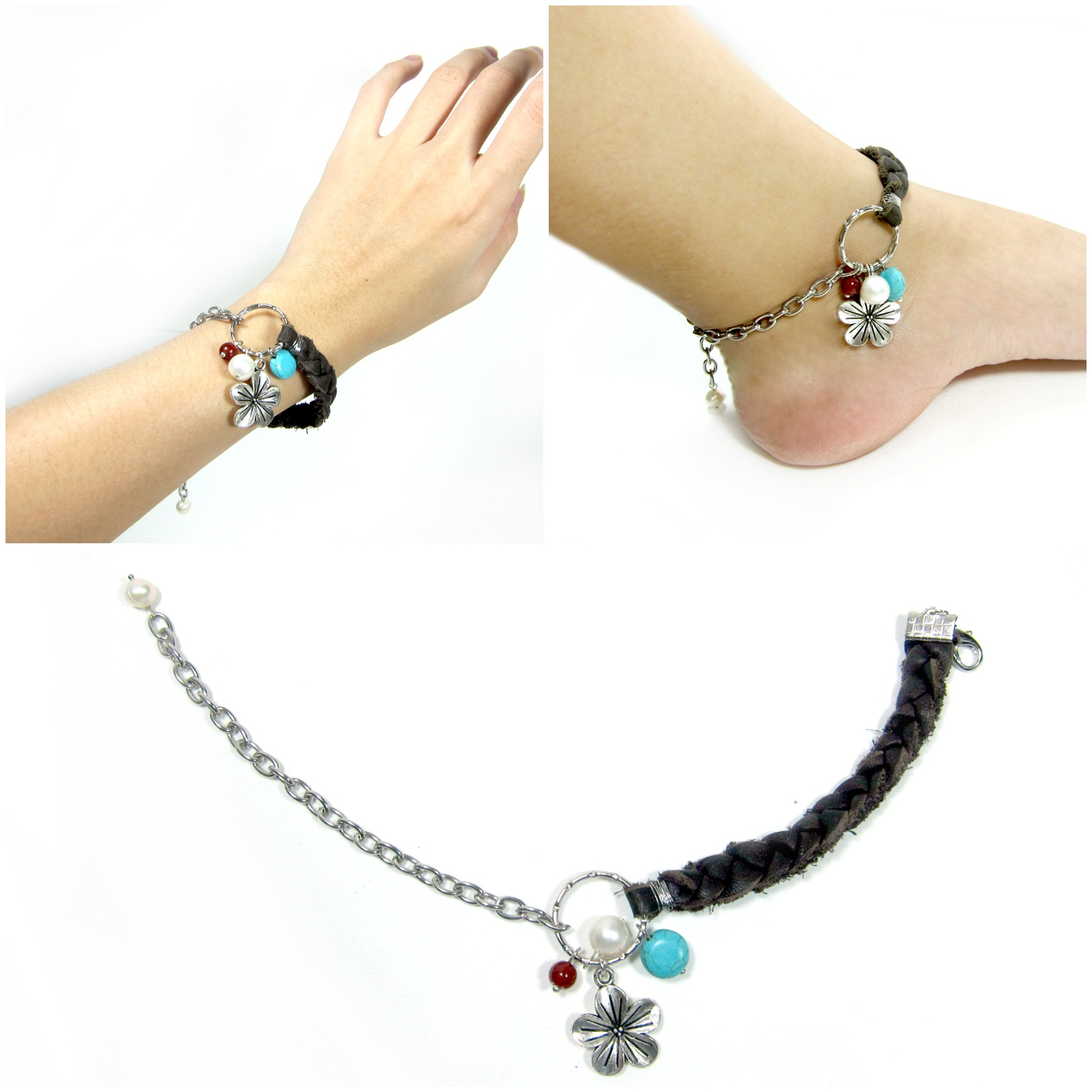 make step a with pictures bracelet anklet ankle steps leather bracelets to how braided