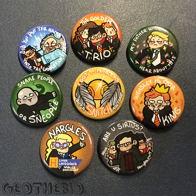 Harry potter pin set (8)