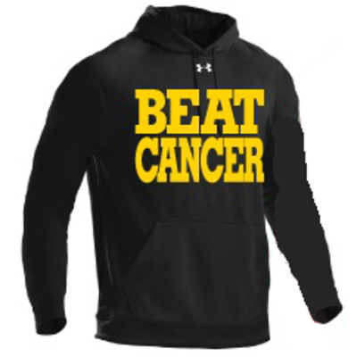 Black/gold under armour®‎ hoodie