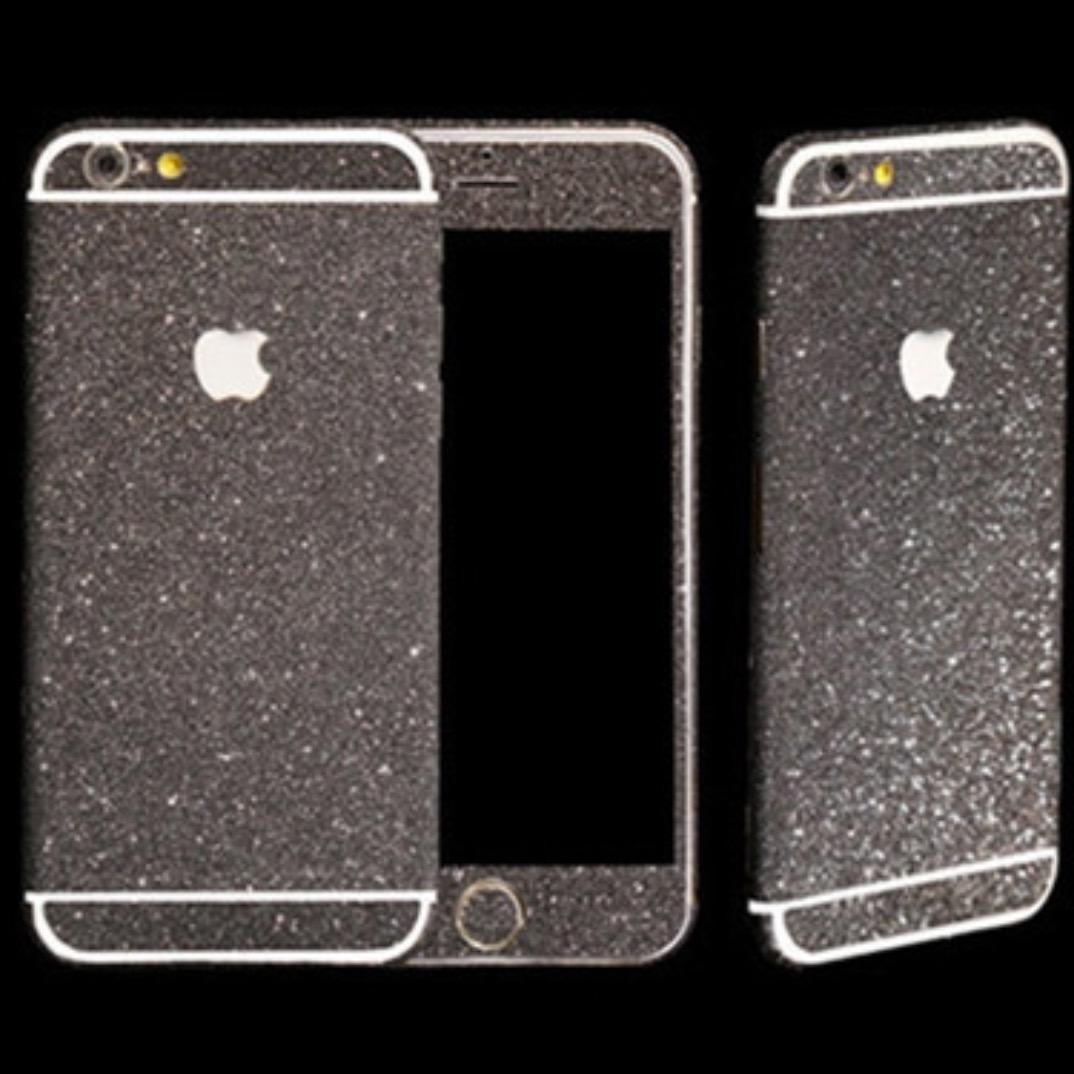 Black Glitter Sticker Skin iPhone 6 iPhone 6 Plus iPhone 5 ...
