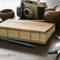 Letterpressed Cedar Wooden Handcrafted Journal