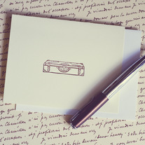 Letterpress Vintage Suitcase Notecards Set (5)