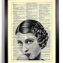 Image of Flapper Girl, Vintage Dictionary Print, 8 x 10
