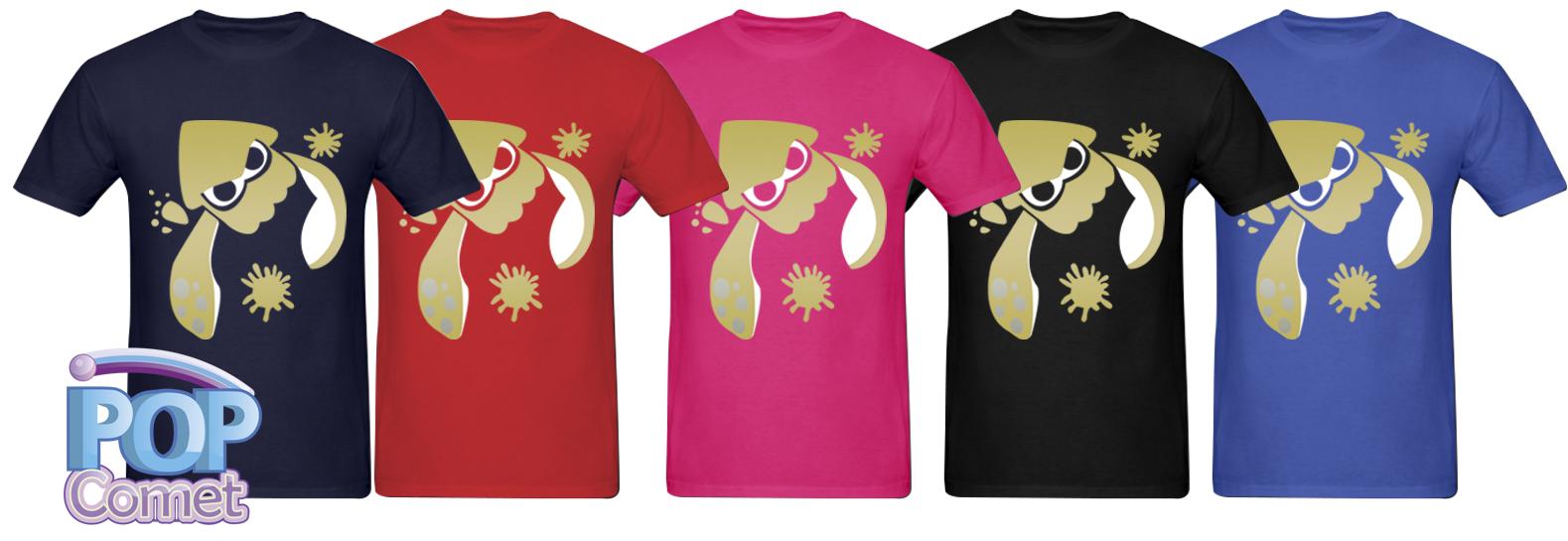 Splatoon Inspired Silver Gold Men S Squid Shirt Splatoon Shirt