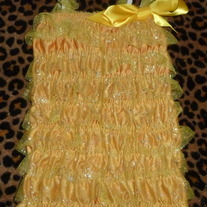 Yellow Fairy Bling Romper-Size 6-12 Months