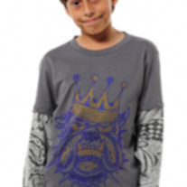 Ed Hardy Bulldog Double Sleeve, Grey