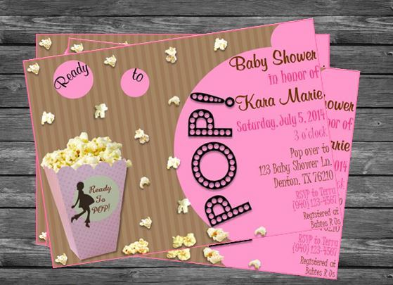 Ready to pop popcorn baby shower invitation for girls ready to pop popcorn baby shower invitation for girls filmwisefo
