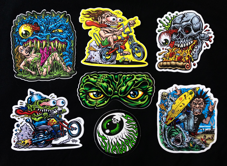 MEDIUM STICKER PACK With Full Color Shaped Vinyl Stickers WITH - Full color vinyl stickers