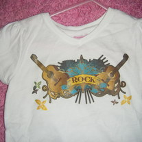 Girls 3T Guitar Rock Tee
