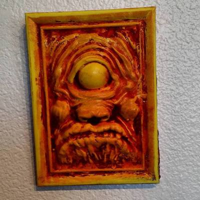 Cycreep 3d wall relief