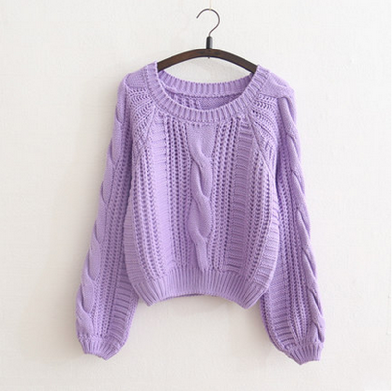 Vintage Hubble-bubble Sleeve Twist Pullover Sweater · Sweetbox ...