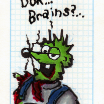 Sketch Card: Redneck Zombie