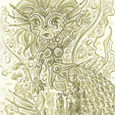 "Custom aceo 2.5 x 3.5"" art card- detailed pencil"