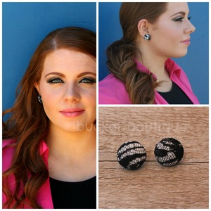 Lace Button Earrings