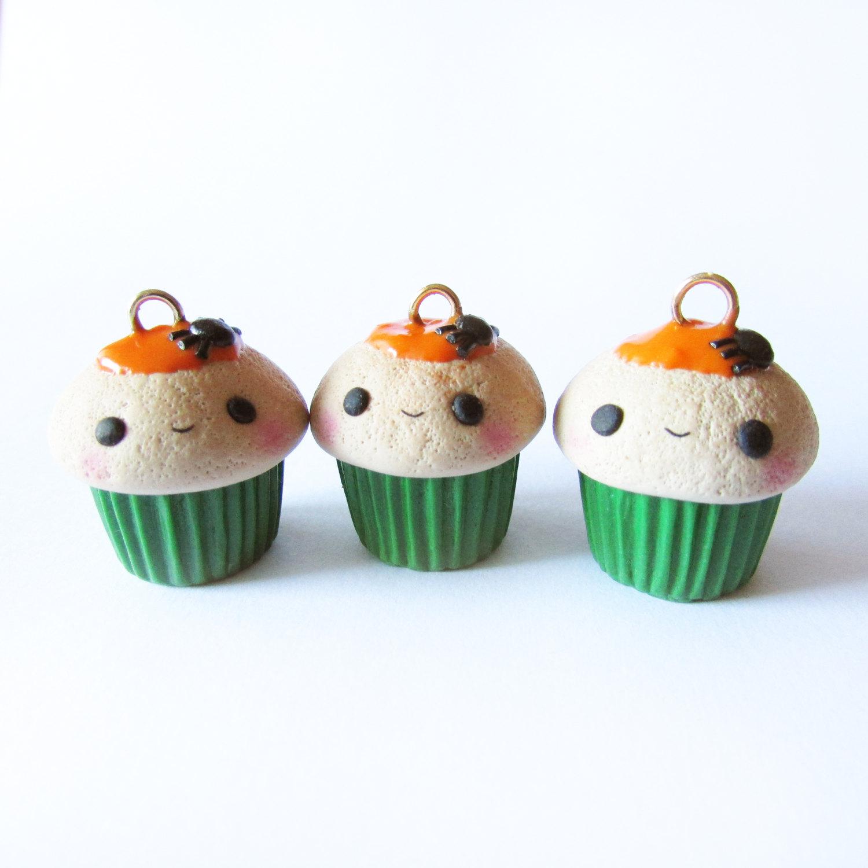 limited edition halloween cupcake - cute kawaii polymer clay charm
