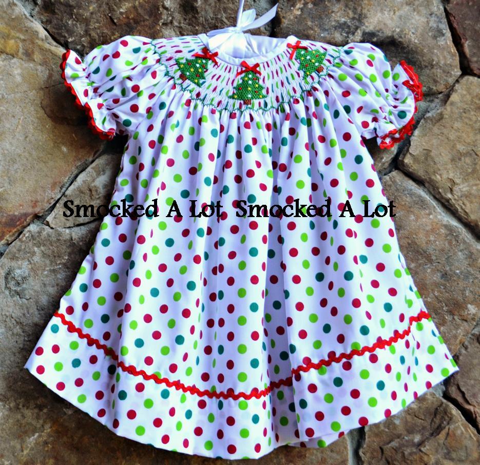 Smocked Christmas Dress 4t