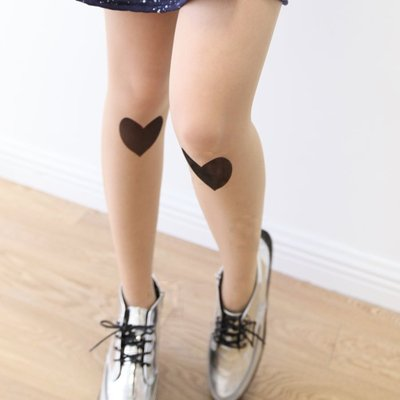 Zipper loving heart tights/stockings