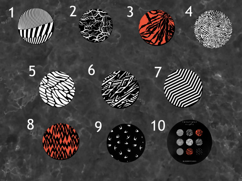 Twenty One Pilots Blurryface Album Buttons