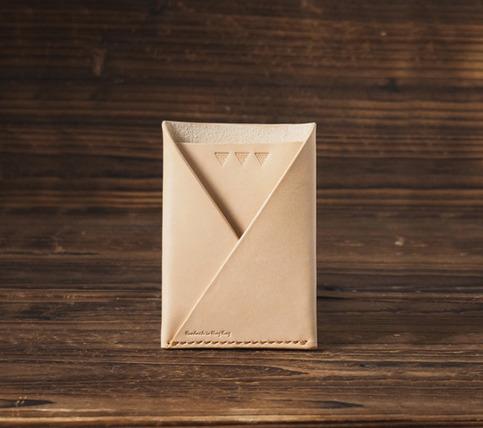 Leather Card Wallet Handmade Card Holder Folded Card