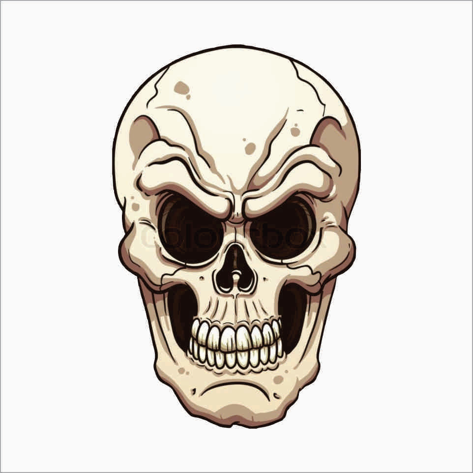 Skull Face Vinyl Decal Sticker Inch TheDecalKing Online - Vinyl decals custompack of custom skull face vinyl decalsstickers thedecalking