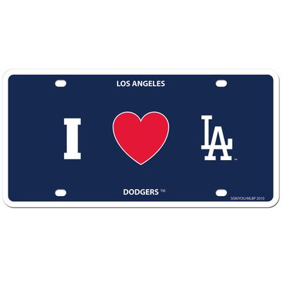 Los angeles dodgers styrene license plate
