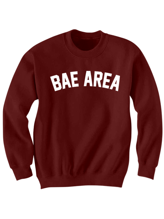 Bae area crewneck sweatshirt maroon original